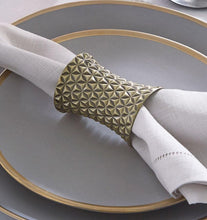 Load image into Gallery viewer, S/2 Napkin Ring - Facet  Collection - By Sferra