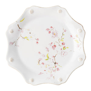 Berry & Thread Floral Sketch Cherry Blossom Dessert/Salad Plate - By Juliska