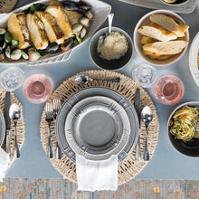Load image into Gallery viewer, Bistro Bright Satin 5pc Place Setting (FWC01/57, FWC02/57, FWC03/57, FWC04/57, FWC05/57) - By Juliska