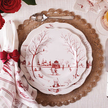 Load image into Gallery viewer, Country Estate Winter Frolic Ruby Dinner Plate Christmas Eve - By Juliska