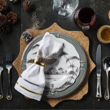 Load image into Gallery viewer, Berry & Thread Bright Satin with Gold Accents 5pc Place Setting (FWBT01/67, FWBT02/67,FWBT03/67, FWBT04/67,FWBT05/67) - By Juliska