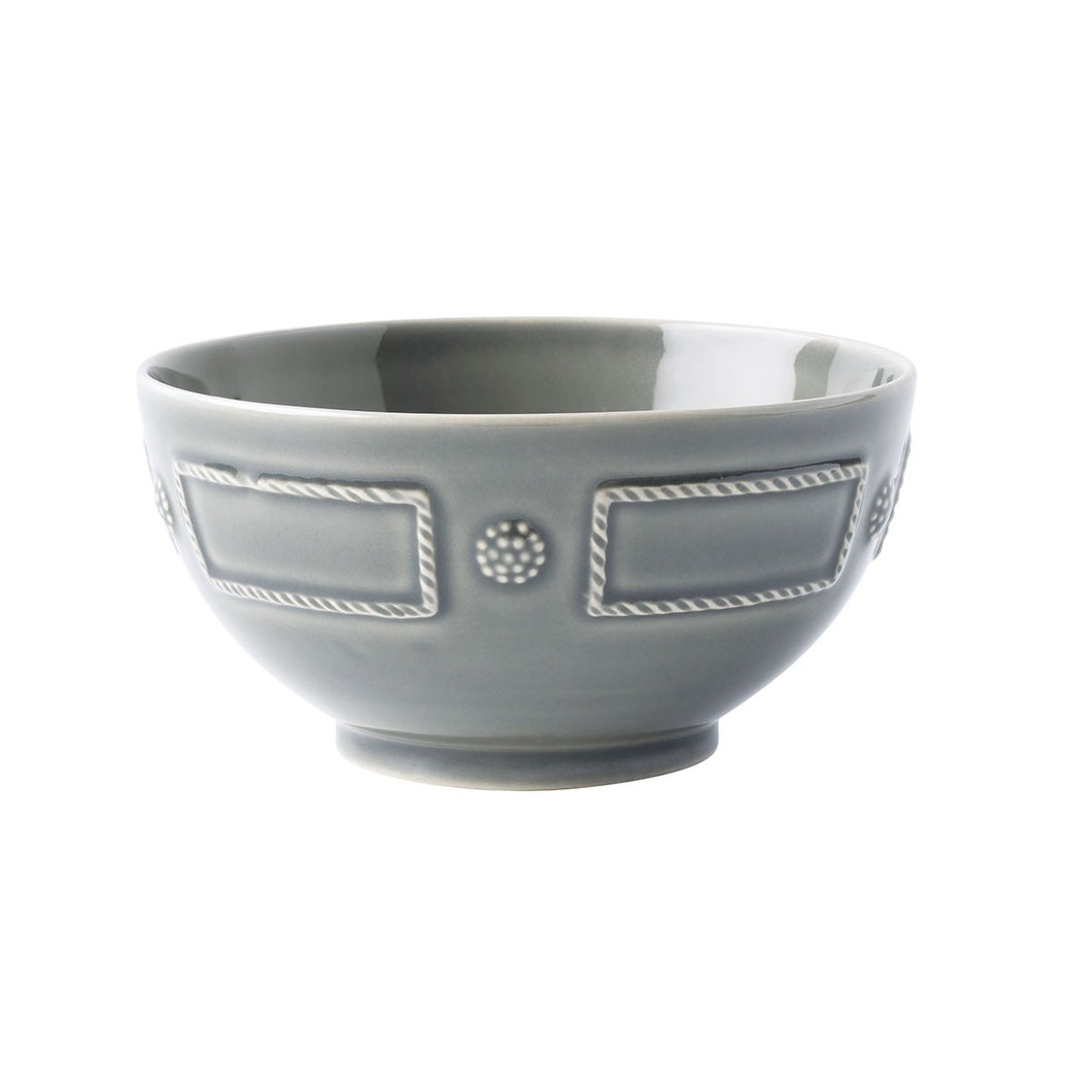 Berry & Thread French Panel Stone Grey Cereal/Ice Cream Bowl - By Juliska