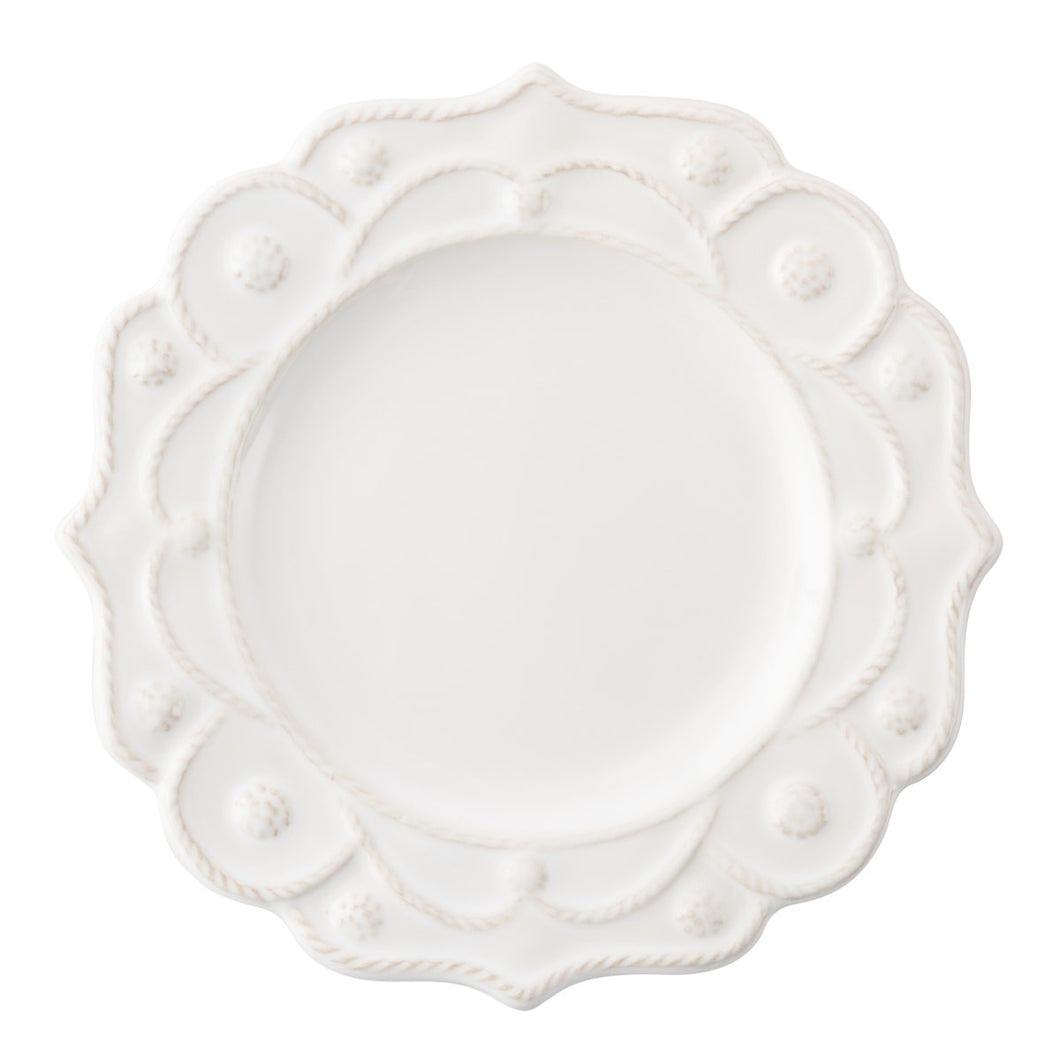 Jardins du Monde Whitewash Side/Cocktail Plate - By Juliska