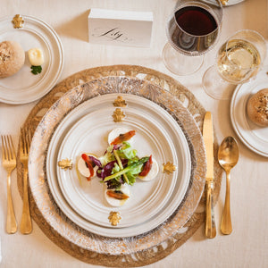 Acanthus Gold Dinner Plate - By Juliska