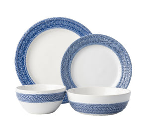 Le Panier Delft Blue 4pc Place Setting (KH01/44, KH02/44, KH07/44, KH81/44) - By Juliska