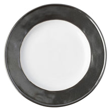 Load image into Gallery viewer, Emerson White/Pewter Side/Cocktail Plate - By Juliska