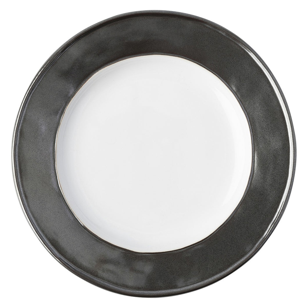 Emerson White/Pewter Side/Cocktail Plate - By Juliska