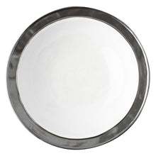 "Load image into Gallery viewer, Emerson White/Pewter 13"" Serving Bowl - By Juliska"