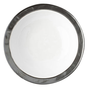 "Emerson White/Pewter 13"" Serving Bowl - By Juliska"
