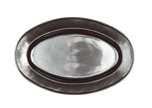 "Pewter Stoneware 15"" Oval Platter - By Juliska"