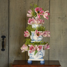 Load image into Gallery viewer, Country Estate Delft Blue Tulipiere Tower Set/3 Garden Follies - By Juliska
