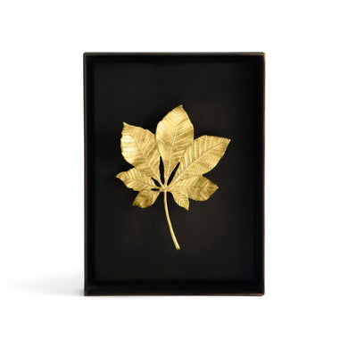 Chestnut Leaf Shadow Box - By Michael Aram