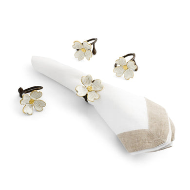 Dogwood Napkin Rings S/4 - By Michael Aram