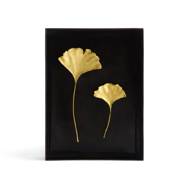 Ginkgo Leaf Shadow Box - By Michael Aram