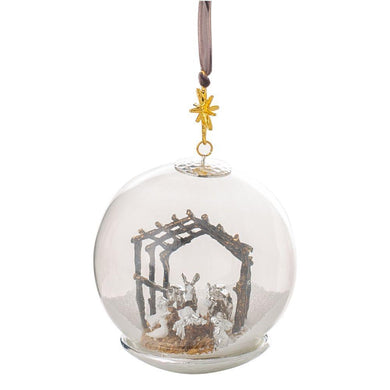 Manger Snow Globe Ornament - By Michael Aram