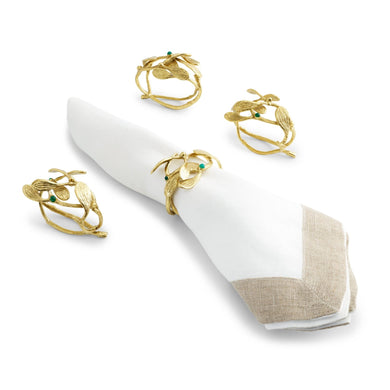 Mistletoe Napkin Ring Set/S4 - By Michael Aram