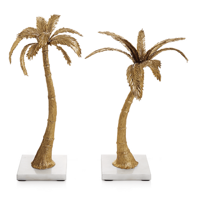 Palm Candleholders Mixed Pair - By Michael Aram