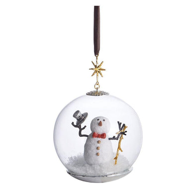 Snowman Snow Globe Ornament - By Michael Aram