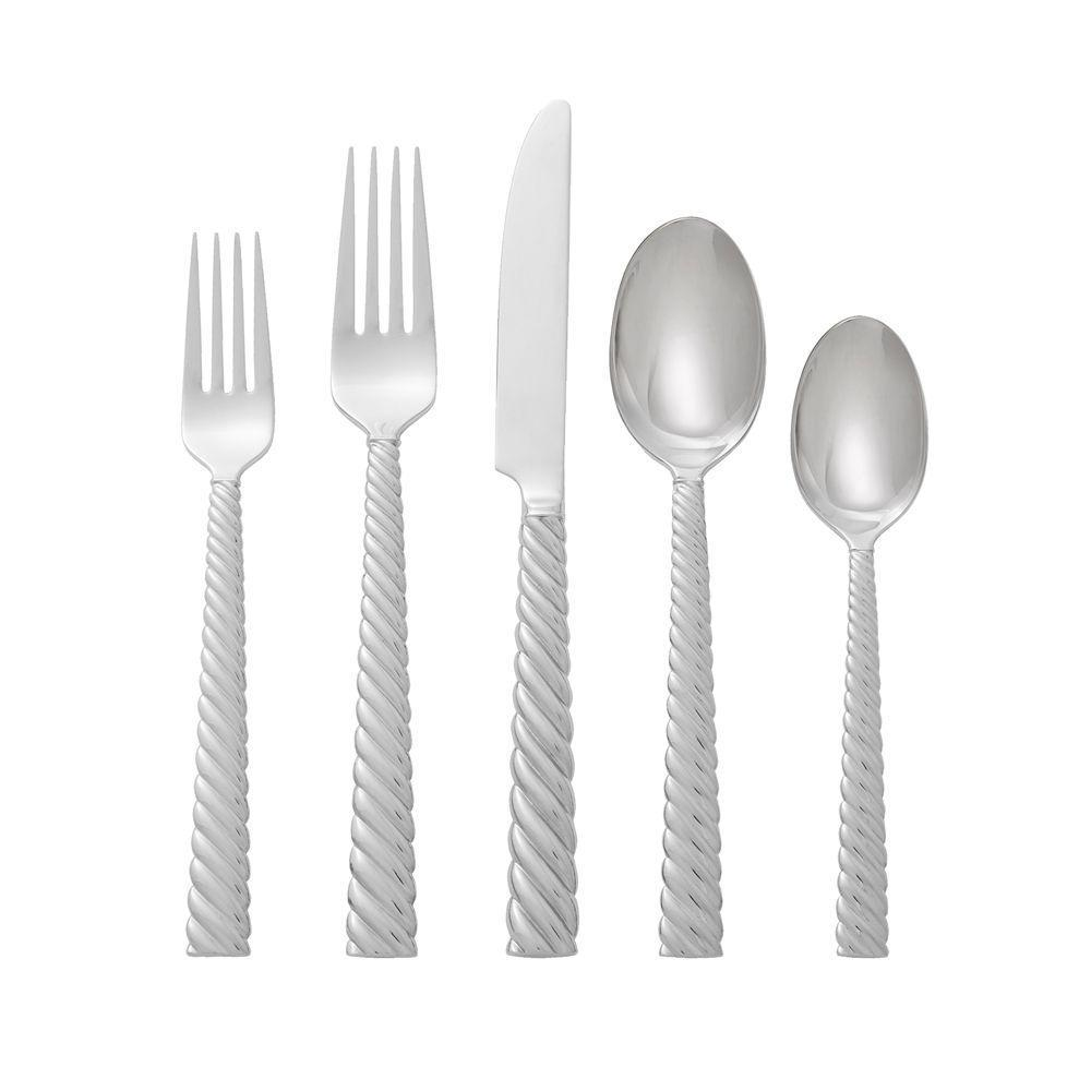 Twist 5pc Flatware Set - By Michael Aram