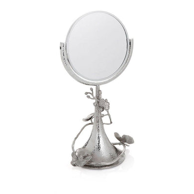White Orchid Vanity Mirror - By Michael Aram