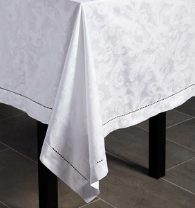 Round Tablecloth 104X0 - Acanthus Collection - By Sferra