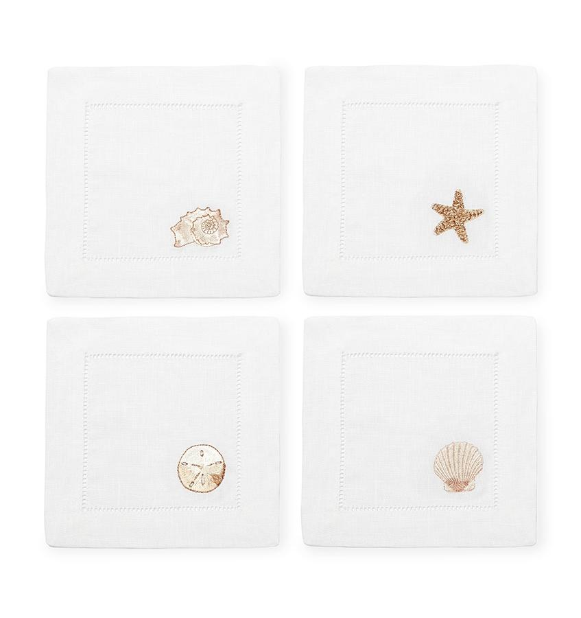 S/4 Cocktail Napkin 6X6 - Beachcomber  Collection - By Sferra