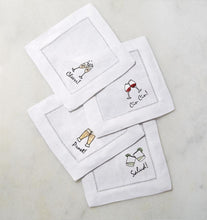 Load image into Gallery viewer, S/4 Cocktail Napkin 6X6 - Cheers Collection - By Sferra