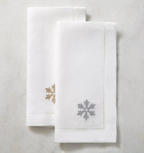 S/4 Cocktail Napkin 6X6 - Frost Collection - By Sferra