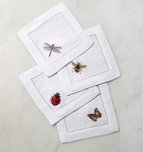 S/4 Cocktail Napkin 6X6 - Insetti Collection - By Sferra