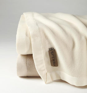 Bagged Linen Queen Blanket 100X94 - Olindo Collection - By Sferra
