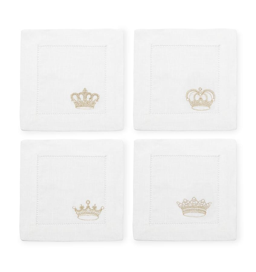 S/4 Cocktail Napkin 6X6 - Royalty Collection - By Sferra