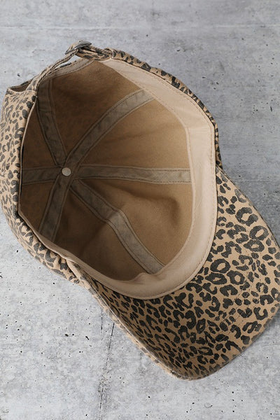 Kit Baseball Cap in Leopard