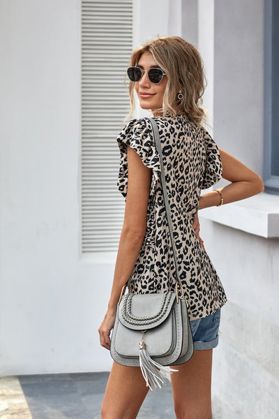 Downtown Leopard Top