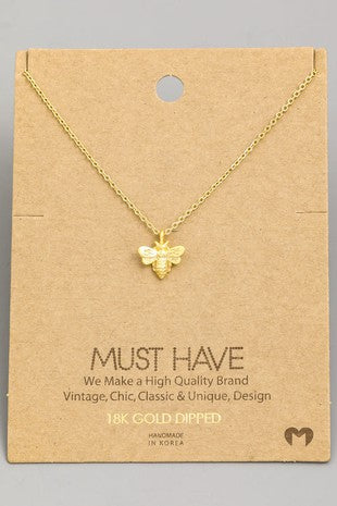 Must Bee! Dainty Necklace in Gold