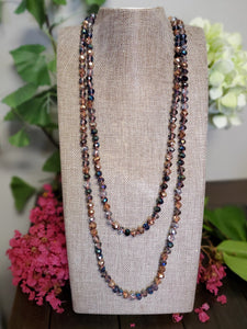 "60"" Faceted Glass Bead Necklace"