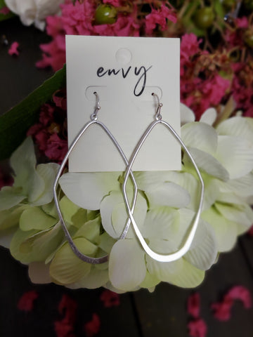 Wired Geometric Dangle Drop Earring