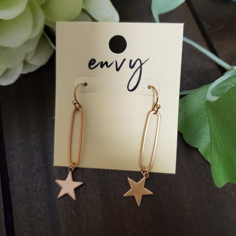Star Dangle Drop Earring