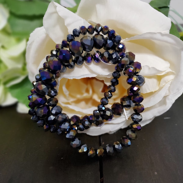 Faceted Glass Bead Bracelet
