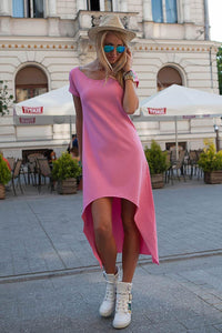 The Still CONTRAST LENGTH DRESS - Pink
