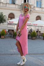 Load image into Gallery viewer, The Still CONTRAST LENGTH DRESS - Pink