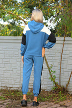 Load image into Gallery viewer, Women's Hooded Color Block Tracksuit