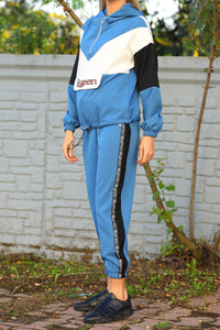 Women's Hooded Color Block Tracksuit