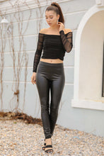 Load image into Gallery viewer, Women's Black Leather Tights