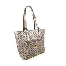 Load image into Gallery viewer, Women's Patterned Silver Bag