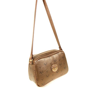 Women's Patterned Bronze Crossbody Bag
