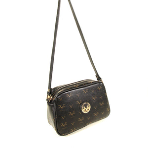 Women's Patterned Black Crossbody Bag