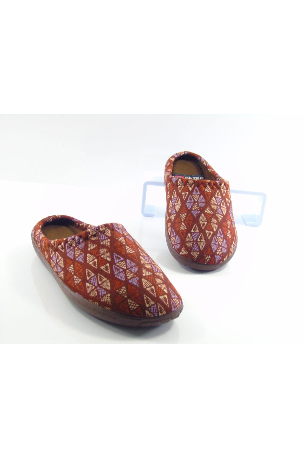 Women's Patterned Brown Winter House Slippers