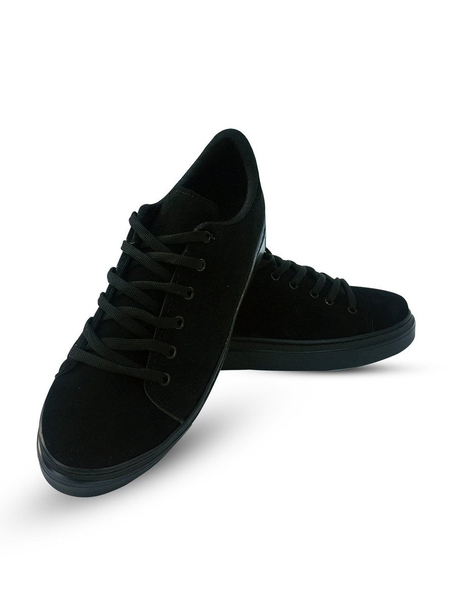 Women's Black Suede Sport Shoes