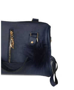 Women's Navy Blue Sleeve Bag