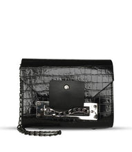 Load image into Gallery viewer, Women's Chain Strap Black Crossbody Bag